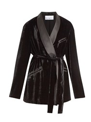 Raey Velvet Smoking Jacket Black