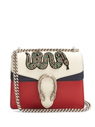 Gucci Dionysus Mini Embellished Leather Cross Body Bag Blue Multi