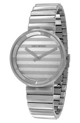 Issey Miyake 'Please' Bracelet Watch 40Mm Silver White