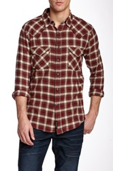 Stitch's Jeans Western Plaid Shirt Red