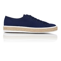 Prada Men's Drill Espadrille Sneakers Navy