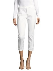 Saks Fifth Avenue Solid Cropped Pants White