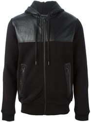 Marc By Marc Jacobs Panelled Panel Hoodie Black