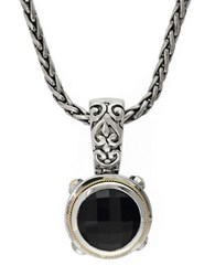 Effy Balissima 18K Yellow Gold And Sterling Silver Onyx Pendant Onyx Silver