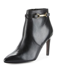 Cole Haan Loveth Side Buckle Leather Bootie Black