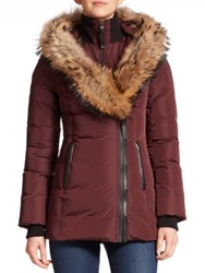 Mackage Adali Fur Trimmed Short Classic Puffer Jacket Bordeaux