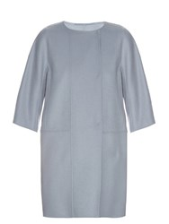 Max Mara Lira Coat Light Blue