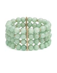 Lonna And Lilly Beaded Stretch Cuff Bracelet Green