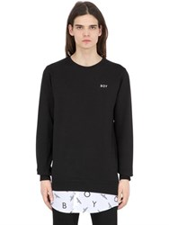 Boy London Repeat Sweatshirt With Poplin Detail