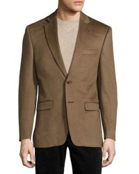 Neiman Marcus Cashmere Two Button Blazer Beige