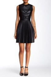 L.A.M.B. Bonded Pleather Dress Black