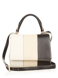 Max Mara J Tri Colour Leather Shoulder Bag Black White