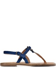 Silvano Sassetti Buckled Loafers Blue