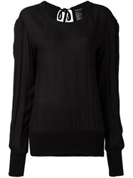 Ann Demeulemeester Open Back Blouse Black