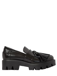 Strategia 50Mm Brushed Leather Tasseled Loafers