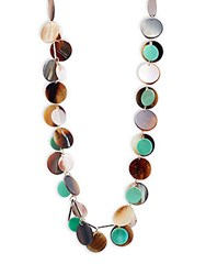 Stella Ruby Stacked Single Strand Necklace Gold