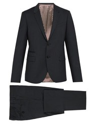 Valentino Slim Fit Single Breasted Wool Blend Suit Grey