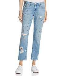 Blank Nyc Blanknyc Studded And Distressed Jeans In Medium Wash Return To Sender
