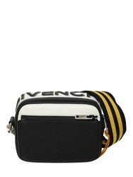 Givenchy Reversible Logo Leather Crossbody Bag Black Gold