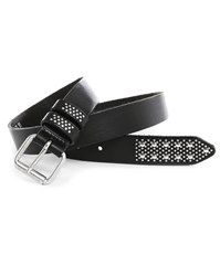 Bill Tornade Black Studded Leather Belt