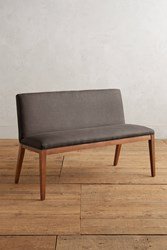Anthropologie Linen Emrys Bench Dark Grey