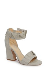 Charles By Charles David 'S Haley Ruffle Sandal Light Grey Suede