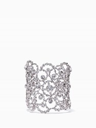 Kate Spade Crystal Lace Cuff Clear Silver