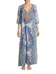 Lucky And Coco Beaded Three Quarter Sleeve Dress Blue