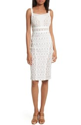 Tracy Reese Women's Stretch Lace Body Con Dress White