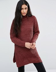 Blend She Dahlia Jumper 26012 Tawny Port Red