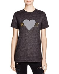 Rodarte Rohearte Graphic Tee Black Burnout