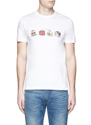 Paul Smith Dice Print Organic Cotton T Shirt White