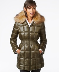 Laundry By Shelli Segal Faux Fur Collar Puffer Down Jacket Olivia