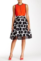 Gracia Polka Dot Skirt Black