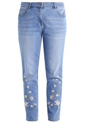 Evans Relaxed Fit Jeans Blue Blue Denim