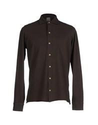 H953 Shirts Shirts Men Dark Brown