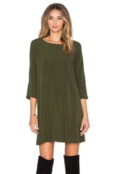 Michael Stars 3 4 Sleeve Crewneck Mini Dress Green