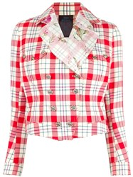 John Galliano Vintage Checked Jacket Red