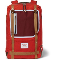 Master Piece Area Canvas Leather Trimmed Backpack Red