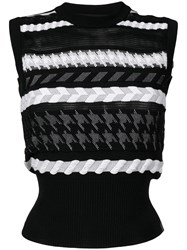 Versace Knitted Sleeveless Top Black