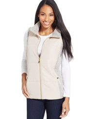 Style And Co. Sport Marled Trim Sporty Vest Only At Macy's White Truffle