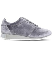 Carvela Languid Metallic Velvet Trainers Grey