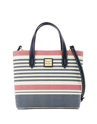 Dooney And Bourke Mini Waverly Coated Canvas Tote Red Navy