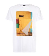 Boss Orange Flocked Graphic T Shirt White
