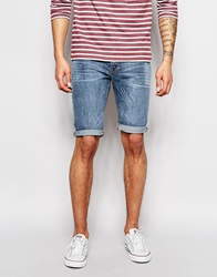 New Look Skinny Ice Wash Short Blue
