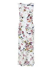 Hallhuber Floral Print Overall With Cropped Leg White