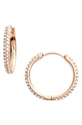 Nadri Women's Small Pave Hoop Earrings Nordstrom Exclusive Rose Gold