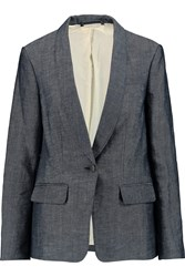 Rag And Bone Natalie Cotton Blend Twill Blazer Blue