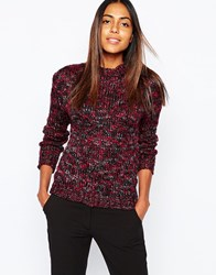 By Zoe By Zoe Zora Jumper In Wool Mix Burgundy