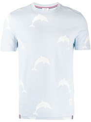 Thom Browne Allover Dolphin Icon Print Tee 60